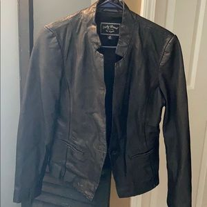 Lucky Brand Lamb Leather Jacket M